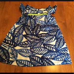 Cat and Jack blue and white dress. Size 2T.